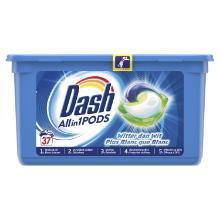 Dash Allin1 Pods : produit lessive - linge blanc - 37 capsules photo du produit
