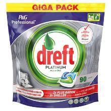 Dreft platinum : tablettes lave-vaisselle - lavage et rinçage - frais - 3 x 90pc photo du produit