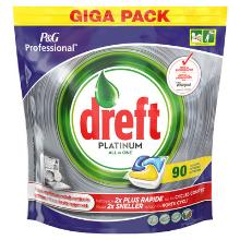 Dreft platinum : citron - tablettes pour lave vaiselle - 3 x 90 tabs photo du produit