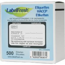 `LABELFRESH`:Etiquettes HACCP/ surgelés 70x45mm [LFDIEPVRIE] photo du produit