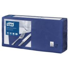 Tork soft Lunch Serviette - 3pl. 33x33cm. (10x150pc)-bleu océan photo du produit