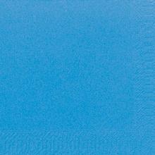 `SERVIETTE UNI`: Bleu pacifique - 33x33cm - 3plis photo du produit
