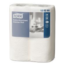 Tork prem. : essuie-tout- blanc- extra absorbant- 24roul.- 2pl.- 16,36m- 64cps photo du produit