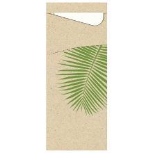 Ecoecho fsc leaf pochette à couverts avec serviette photo du produit