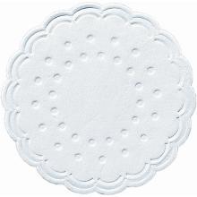 Sous-verres : ronds - blancs - 8 plis - Ø 7.5cm photo du produit