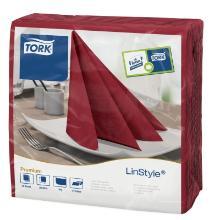 Tork LinStyle : serviette dinner bordeaux photo du produit