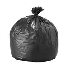 Sac poubelle noir : 90x110cm - SPT - BD - 55µ - avec lien - 10 sacs photo du produit