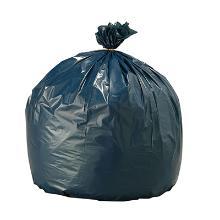 Sac poubelle gris: 80x97cm - sans lien - 10 sacs photo du produit