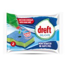 RECURAL DREFT SOFT abrasif BLEU+eponge VERT 11.5x2.5x7cm / synthétique - mic photo du produit
