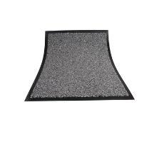 Tapis anti-poussière : 60x40cm - pvc gris - caoutchouc photo du produit