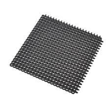 `MASTER FLEX D12` Tapis en caoutchouc-Noir-extérieur carreaux 50x50cm/structure photo du produit