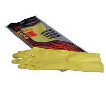 Gant de ménage : latex - jaune - S/7 photo du produit
