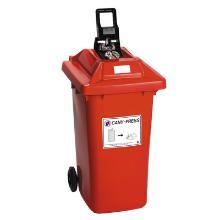 CONTENEUR 120 lt + COUVERCLE PRESSE POUR CANETTES rouge [BL33/120RO] photo du produit