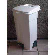 Collecteur eco : 106 lt - blanc - avec roues - pédales photo du produit