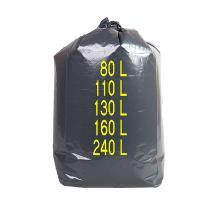 Sacs poubelle Noirs : 62x70cm - HD- 12µ (cartons) - sans lien - 100 sacs photo du produit