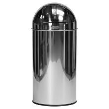 """COLLECTEUR """"PUSH"""" : inox miroir/40 litres 35x35x74(h)cm photo du produit"""