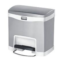 `STEP ON FS COLLECTEUR A PEDALE` 15LT/blanc - métal avec bac intérieur photo du produit
