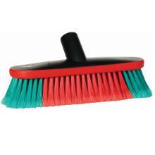 Brosse véhicule ovale : polyester rouge/vert - 80x270mm photo du produit