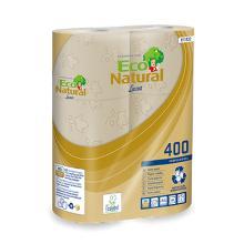 Econatural : papier toilette - recyclé - 2 plis - 30 roul. x 400 f. - 44 m photo du produit