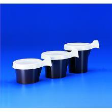 `TASSE A CAFE` avec anse PS-blanc/brun /`210cc` D.80 H 65mm (20 x 50 pc) [104025 photo du produit