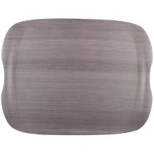 Earth tray wave grey wood : plateau - 43 x 33cm - fibres naturelles photo du produit