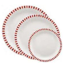 Assiette plate : rouge et bordeaux - 23cm - 1 x 100pc photo du produit