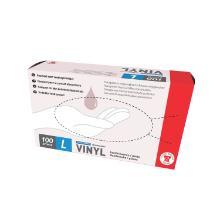 SP Gants à usage unique - vinyl - transparent - non-poudré - L/9 - 100 pc photo du produit