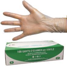 `GANT VINYL QUALITE MEDICAL POUDRE/-L/100pc Blanc, Usage unique photo du produit