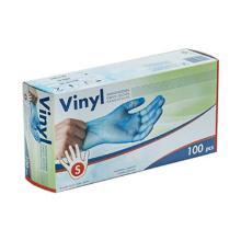 GANT VINYLE/taille-S: usage unique, bleu/100pcs photo du produit