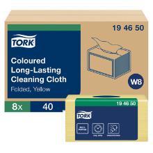 POETSDOEK TORK LONG-LASTING COLOUR CODED GEEL 30X38.5CM 40VELLEN W8 (8) artikelfoto