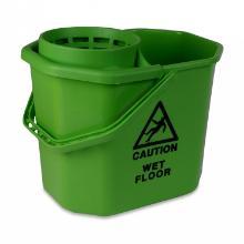 Mopemmer groen 12ltr incl. korf en waarschuwingsdriehoek Artikel foto