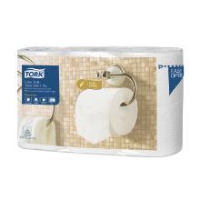 Toiletpapier 4 laags tissue 97mm 19,1m/rol 153 vel T4 Tork Premium Artikel foto