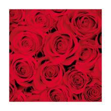 Servet dessin red roses 3 laags tissue 33x33cm Artikel foto