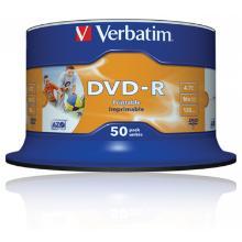Verbatim DVD-R4,7 Gb inkjet-wit non-ID Artikel foto