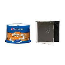 Verbatim DVD + 5.2 slimline CD case mat transparant Artikel foto