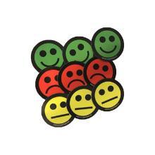 Magnetische Smiley Mix maat 5 cm Artikel foto