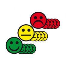 Magnetische Smileys geel 5cm Artikel foto