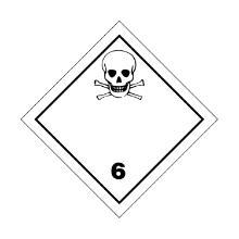 "Signalering voor international transport ""Giftige stoffen""10x10cm zelfklevend Artikel foto"