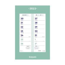 2021: Wand 2weeks kalender 2020 20 x 31,5 cm 2 weken op 1 overzicht Artikel foto