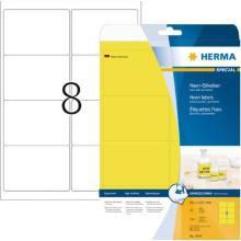 Herma 5144 fluorescerende etiketten 99,1x67,7mm geel Artikel foto