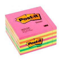 Post-it notitieblok neon roze 76x76mm 3M Artikel foto