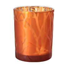 Kaarshouder shimmer rust 100x80mm glas Artikel foto