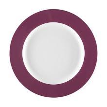 Bord plat wit met rand lavendel 260mm porselein Seltmann Artikel foto