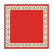 Napperon dessin urban yule red dunisilk+ 84x84cm op=op Artikel foto