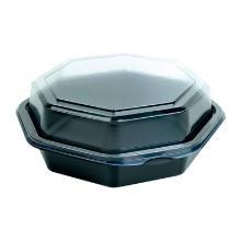 Bak octaview 400ml zwart-transparant 160x160x60mm ps Artikel foto