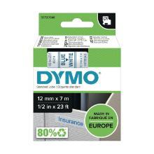 Etiketteerlint/tape D1 45014 12mm blauw/wit Dymo Artikel foto