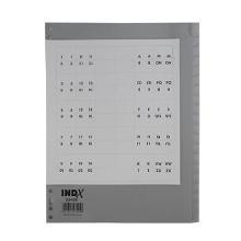 Tabbladen met invoegbare etiketten A4 20 tabs 23-gaats pp Indx Artikel foto