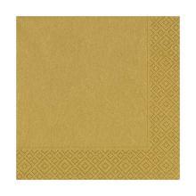 Servet goud 3 laags tissue 33x33cm Artikel foto