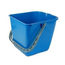 Emmer vierkant tbv werkwagen basic/brix 15ltr blauw Artikel foto