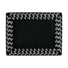 Taartrand rechthoekig zwart 30x40cm papier Artikel foto